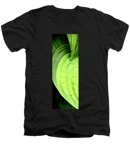 Shades Of Green Men's V-Neck T-Shirt by Jerry Sodorff