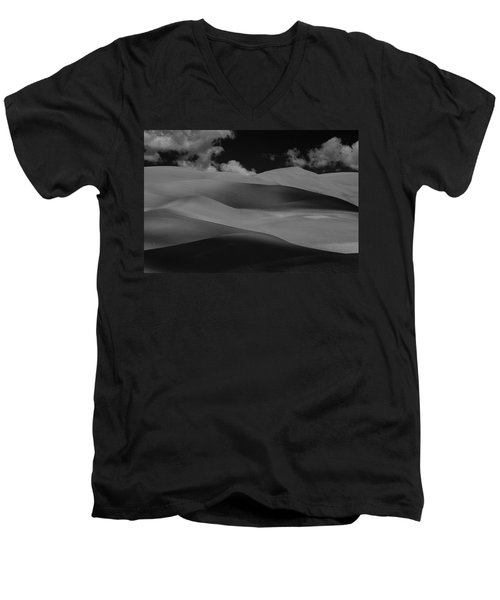 Men's V-Neck T-Shirt featuring the photograph Shades Of Sand by Brian Duram