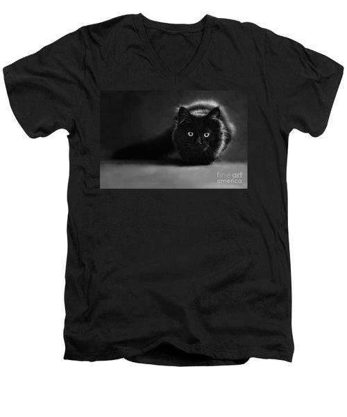Shadow Cat 2 Men's V-Neck T-Shirt