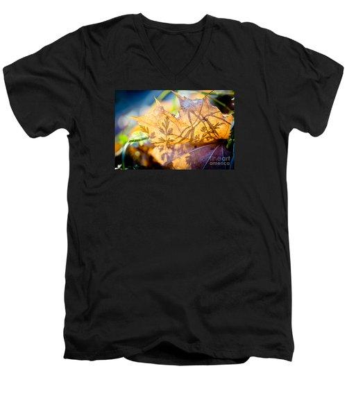 Shadow Of Autumn  Artmif.lv Men's V-Neck T-Shirt