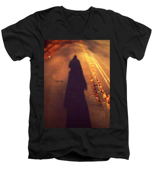 Shadow Men's V-Neck T-Shirt by Persephone Artworks