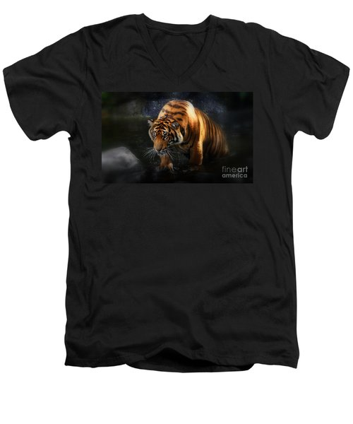Shadows And Light Men's V-Neck T-Shirt by Kym Clarke