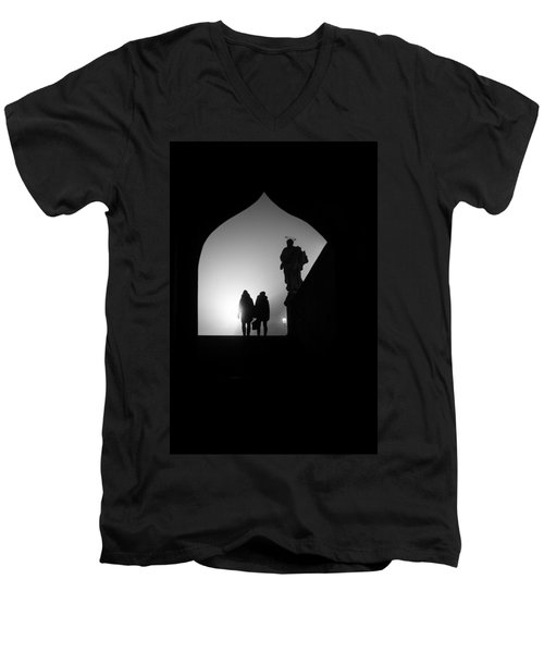 Men's V-Neck T-Shirt featuring the photograph Shadows by Jenny Rainbow