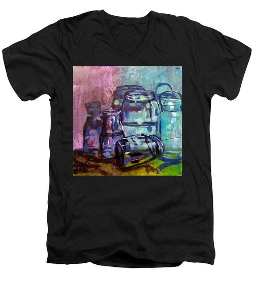 Shadows Through Glass Men's V-Neck T-Shirt by Barbara O'Toole
