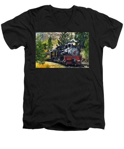 Shay On The Georgetown Loop Men's V-Neck T-Shirt