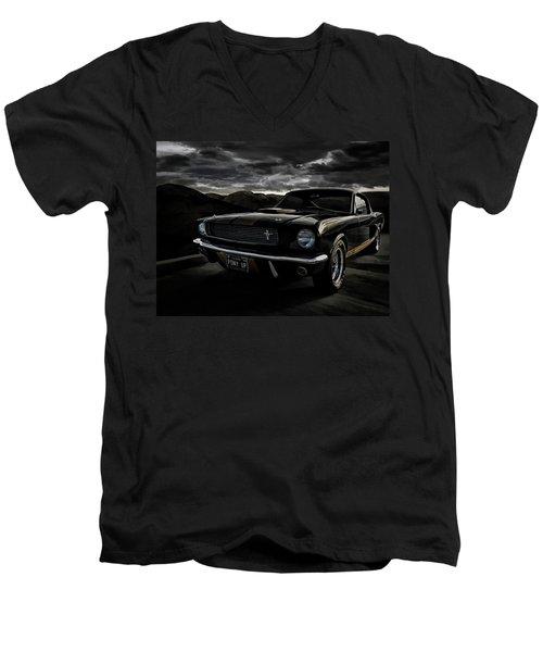 Shelby Gt350h Rent-a-racer Men's V-Neck T-Shirt