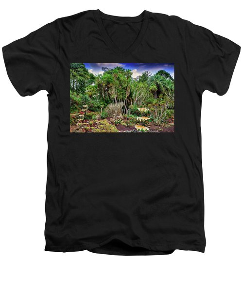 Shell Garden Men's V-Neck T-Shirt by Joseph Hollingsworth