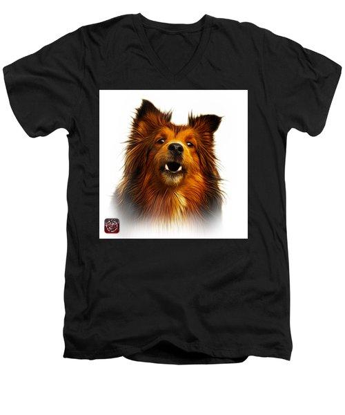 Sheltie Dog Art 0207 - Wb Men's V-Neck T-Shirt