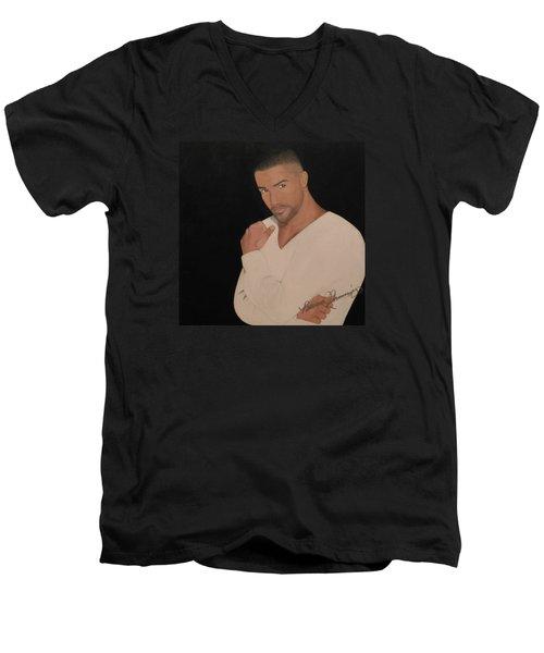 Shemar Moore Men's V-Neck T-Shirt