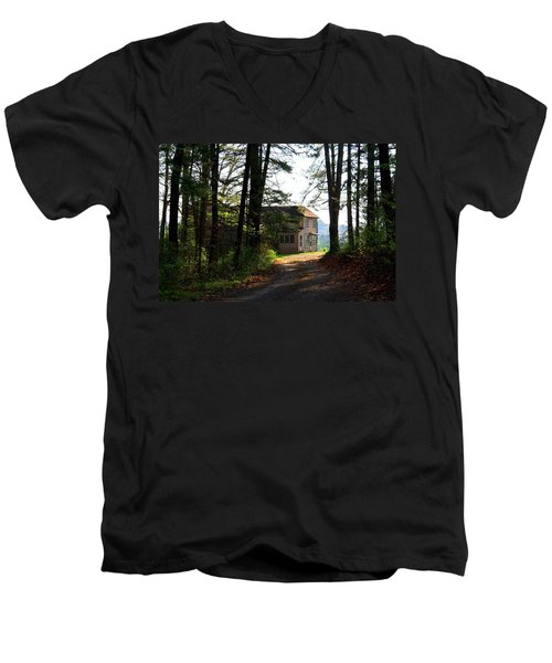 Men's V-Neck T-Shirt featuring the photograph Shields Farm by Kathryn Meyer