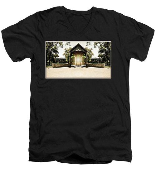 Men's V-Neck T-Shirt featuring the photograph Shining Through by Roseann Errigo