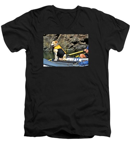 Ship, Captain And Crew Men's V-Neck T-Shirt by Ansel Price