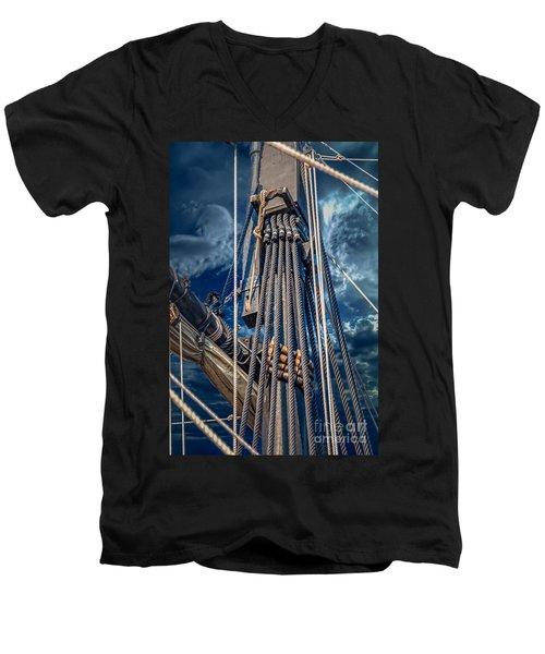 Ships Mast Men's V-Neck T-Shirt