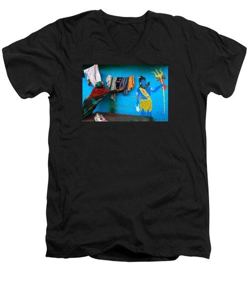 Shiva Men's V-Neck T-Shirt