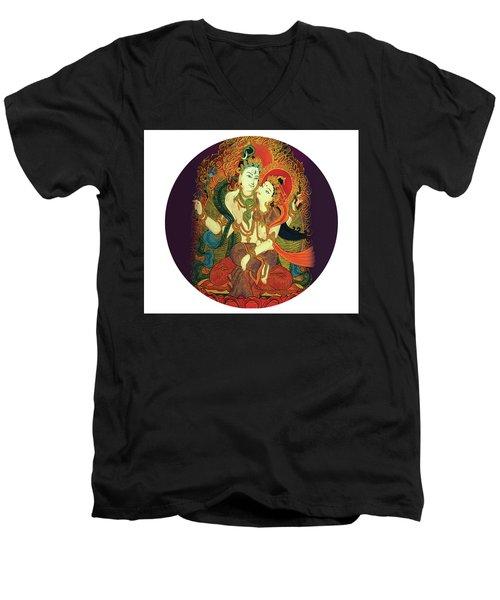 Shiva Shakti Men's V-Neck T-Shirt