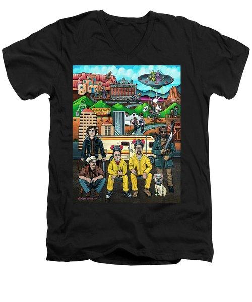 Shooting Stars In New Mexico Men's V-Neck T-Shirt