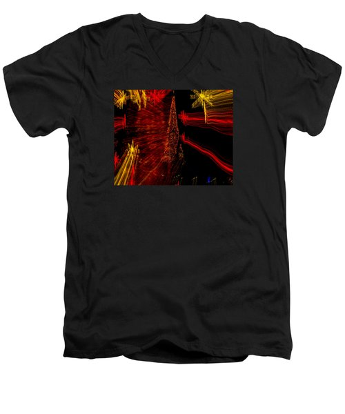 Men's V-Neck T-Shirt featuring the photograph Shooting Stars by Penny Lisowski
