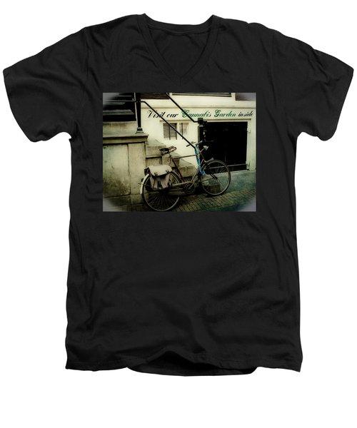 Shopping In Amsterdam Men's V-Neck T-Shirt