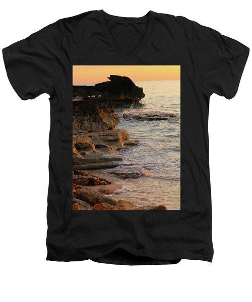 Shoreline In Bimini Men's V-Neck T-Shirt