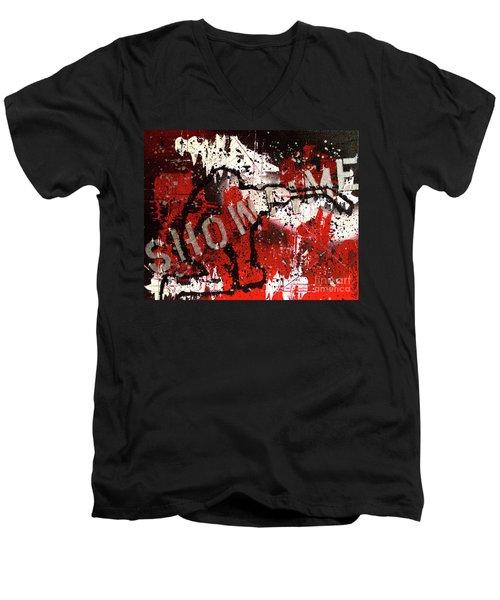 Showtime At The Madhouse Men's V-Neck T-Shirt