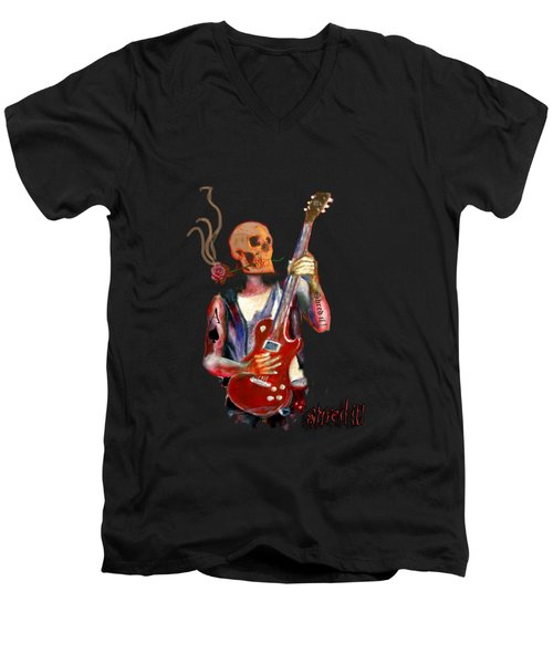 Shred It Men's V-Neck T-Shirt by Tom Conway
