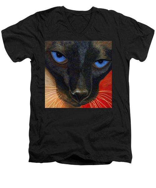 Siamese Men's V-Neck T-Shirt