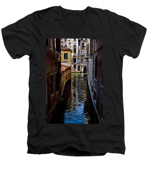 Side Canal Men's V-Neck T-Shirt by Harry Spitz