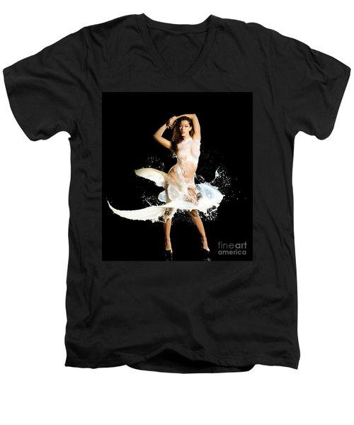 Sides Men's V-Neck T-Shirt by Gregory Worsham