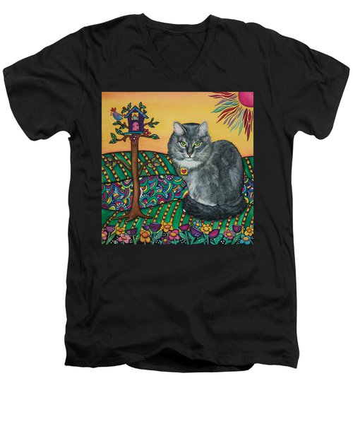 Sierra The Beloved Cat Men's V-Neck T-Shirt