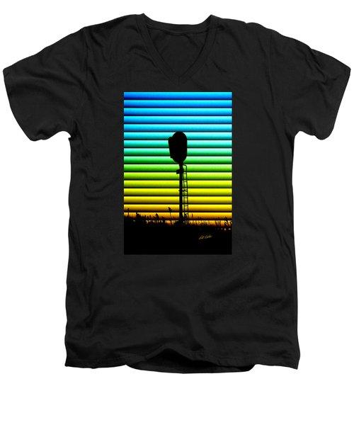 Signal At Dusk Men's V-Neck T-Shirt by Bill Kesler