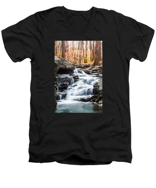 Autumn At Moss Rock Preserve Men's V-Neck T-Shirt