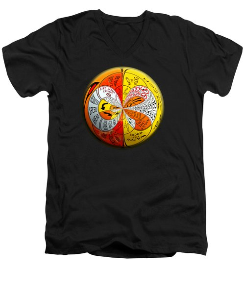 Signs Orbit Men's V-Neck T-Shirt by Phyllis Denton
