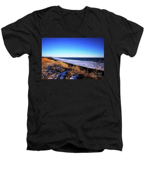 Silence At Black Sand Beach Men's V-Neck T-Shirt