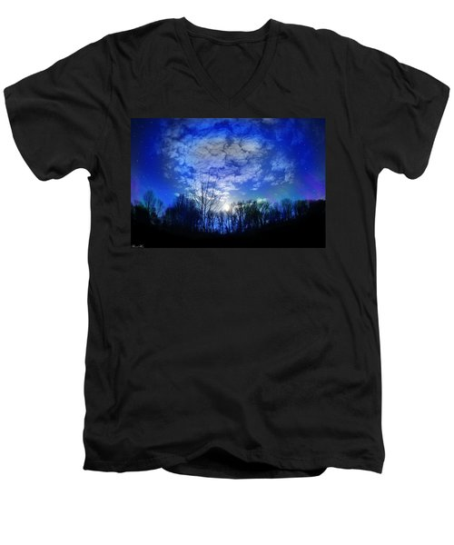 Silence Men's V-Neck T-Shirt by Bernd Hau