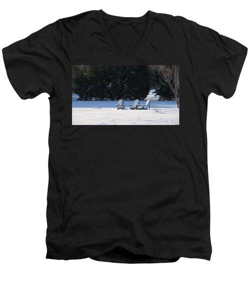 Silent Conversation Men's V-Neck T-Shirt
