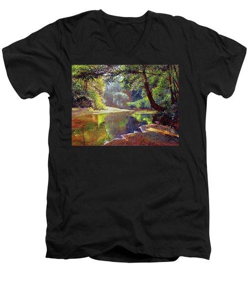 Silent River Men's V-Neck T-Shirt