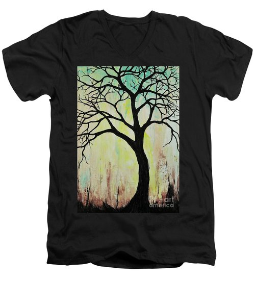 Silhouette Tree 2018 Men's V-Neck T-Shirt