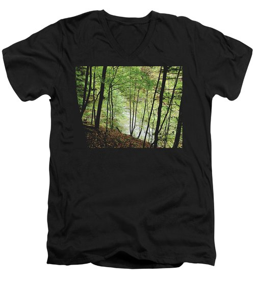 Silhouetted Trees Men's V-Neck T-Shirt