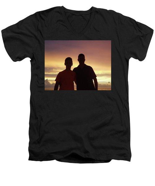 Silouettes Men's V-Neck T-Shirt
