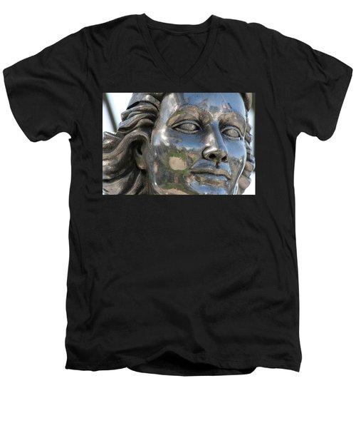 Silver Delores Del Rio Men's V-Neck T-Shirt