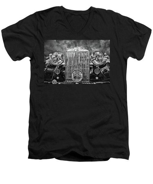 Silver Rolls Royce Men's V-Neck T-Shirt