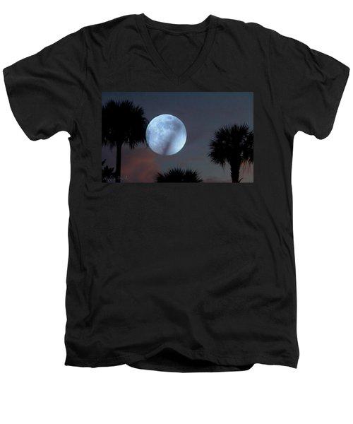 Silver Sky Ball Men's V-Neck T-Shirt