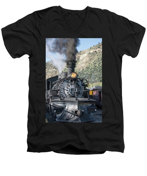 Men's V-Neck T-Shirt featuring the photograph Silverton Bound by Colleen Coccia