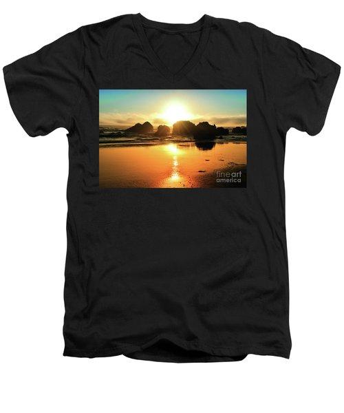Simple Sunset Men's V-Neck T-Shirt