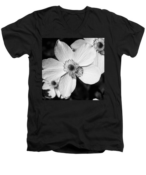 Men's V-Neck T-Shirt featuring the photograph Simply Black And White by Karen Stahlros