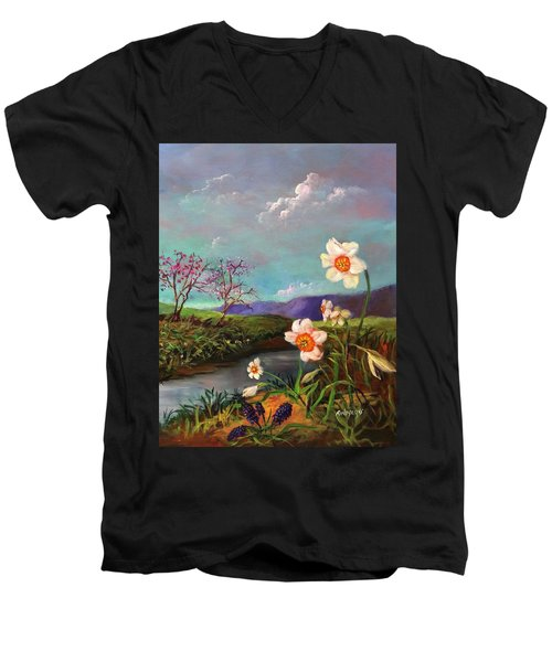 Simply Spring Men's V-Neck T-Shirt