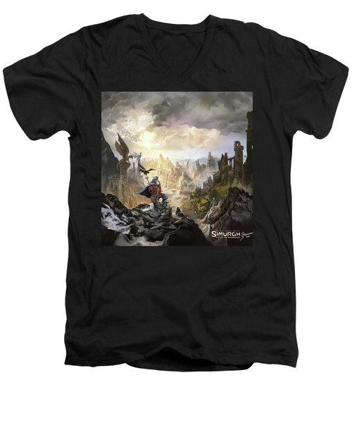 Simurgh Call Of The Dragonlord Men's V-Neck T-Shirt