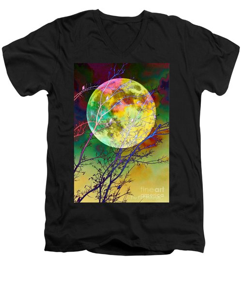 Singing By The Light Of The Moon Men's V-Neck T-Shirt