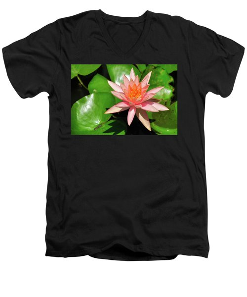 Men's V-Neck T-Shirt featuring the photograph Single Flower by Gandz Photography