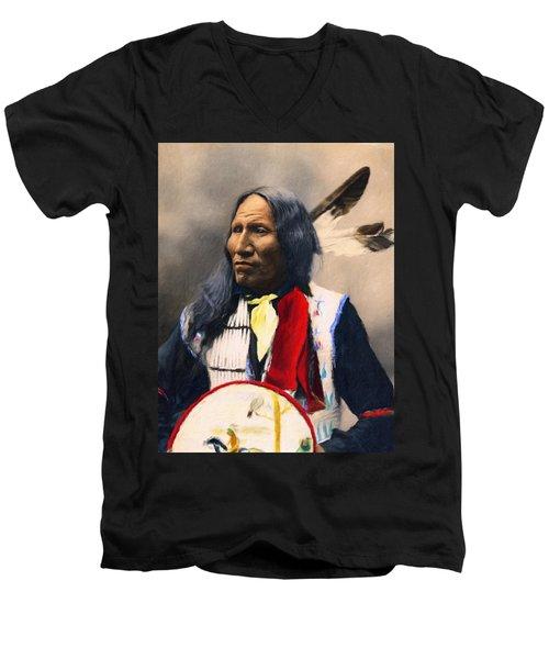 Sioux Chief Portrait Men's V-Neck T-Shirt